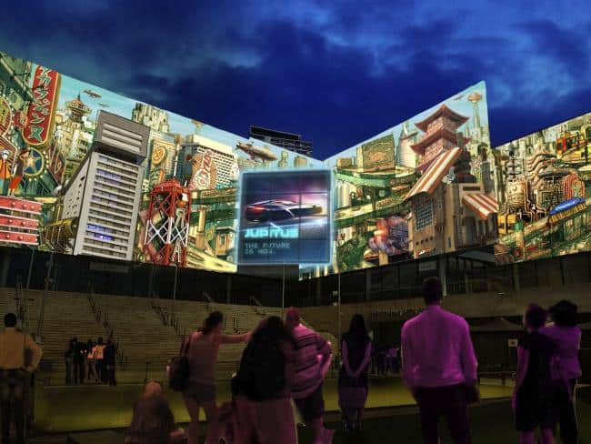 A preview of Future City Smart City at The Concourse in Chatswood by artist The Electric Canvas